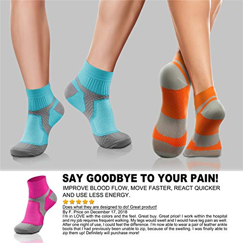 Compression Socks (3/6/7 Pairs),15-20 mmHg is Best Athletic