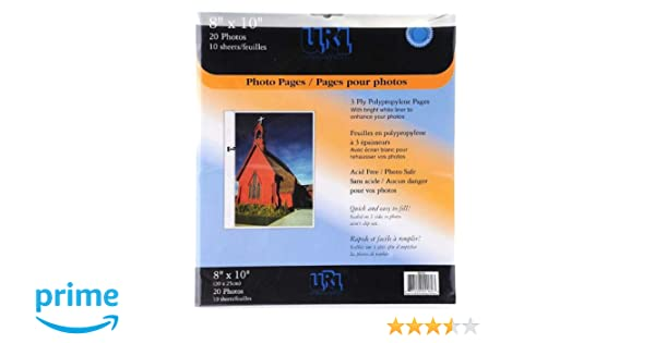 Pinnacle 8 Inch By 10 Inch Album Refill Pages Nbg Home 162