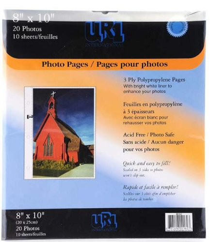 Pinnacle 8-Inch-by-10-Inch Album Refill Pages NBG Home 162