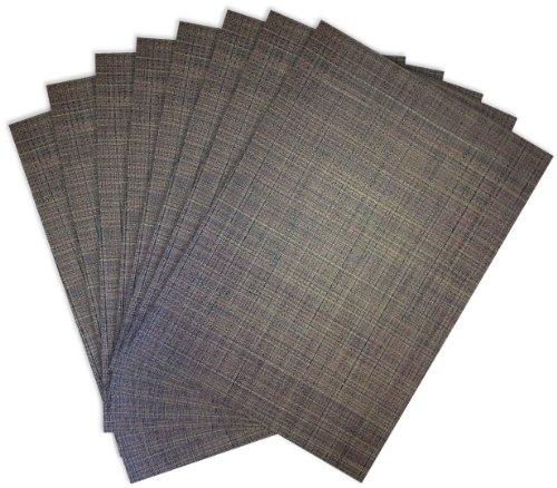 Benson Mills Tweed Woven Placemats, Chocolate, Set of 8