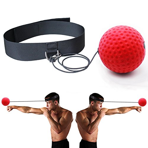 Boxing Reflex Punching Ball Training Coordination with Headband ,Portable Boxing Exercise Ball to Improve Reaction and Speed for Training and Fitness