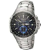 Seiko Men's 'COUTURA' Quartz Stainless Steel Casual Watch, Color Silver-Toned (Model: SSG009)
