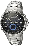 Seiko Men's 'COUTURA' Quartz Stainless Steel Casual Watch, Color:Silver-Toned (Model: SSG009)