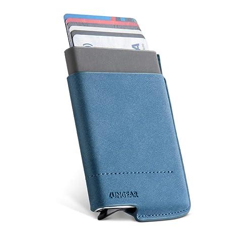 50a4e3b0ff LunGear Porta Carte di Credito con Tasca Banconote,RFID Blocco Porta Carte  di Alluminio e