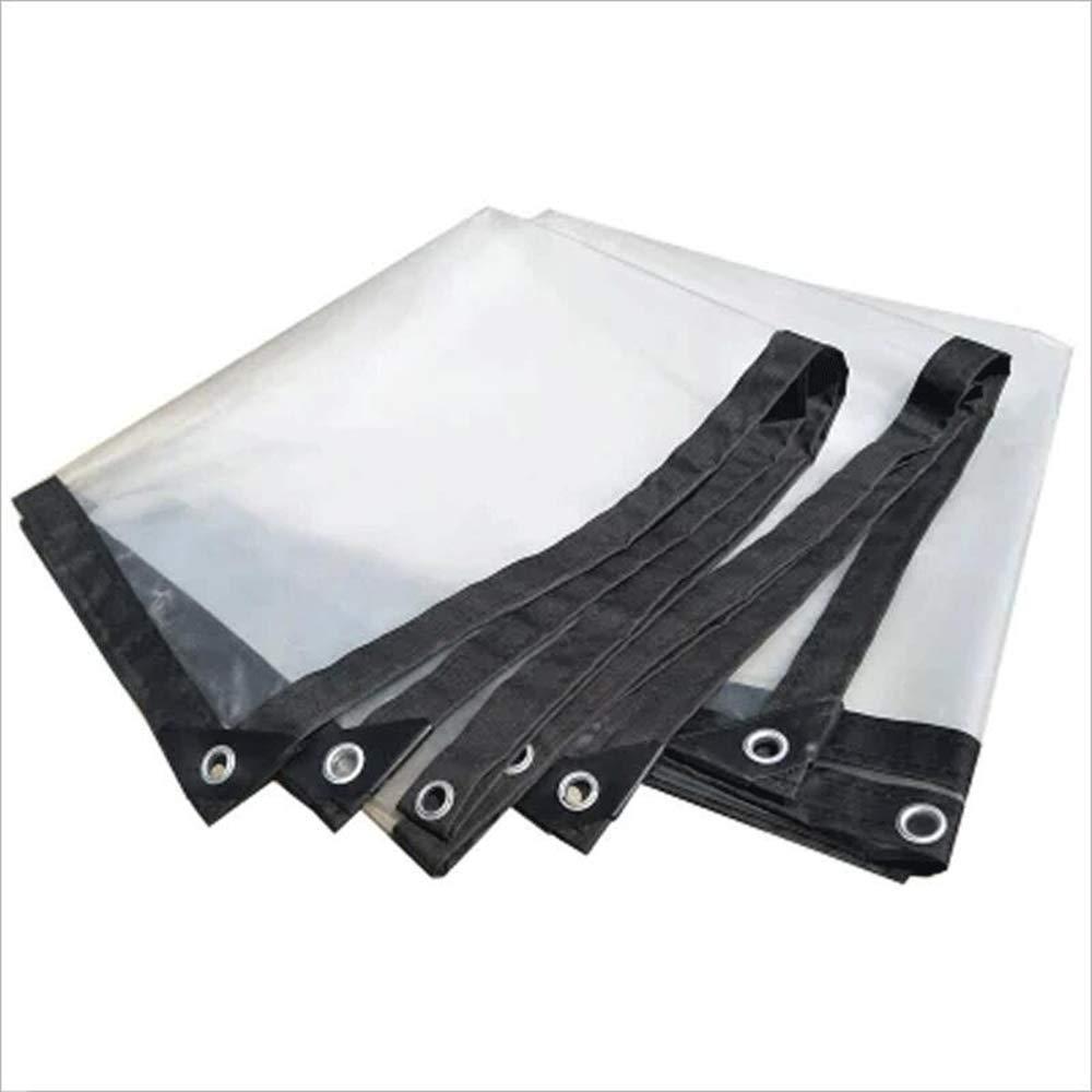 防水布、透明なポリ塩化ビニールのちり止めの雨の屋外の日除けの縁取りのキャンバス (サイズ : 5mx8m) 5mx8m  B07P9HXVP2