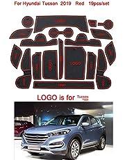 19pcs / Set Car Antiscivolo Holder Porta Groove Mats Coppa Sostituzione Pad Decorazione Interna per Hyundai Tucson 2019
