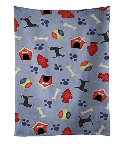Caroline 's Treasures bb4067ktwl casa de perro Chihuahua colección negro toalla de cocina, 63.5x 38.1cm, multicolor