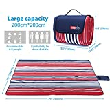 "HOdo Picnic Blanket Extra Large 79""x79"" Outdoor"