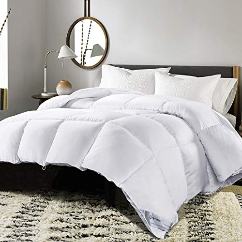 Brermer Soft Twin Goose Down Alternative Comforter, All Seasons Puffy Warm Duvet Insert with 8 Corner Tabs, Luxury Reversible Hypoallergenic Hotel Collection, 68