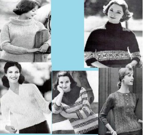 Knitting Pattern Classic (Classic Knitting Patterns for Women's Slipover Sweaters)