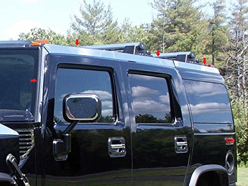 - QAA FITS H2 2003-2009 HUMMER (8 Pc: Stainless Steel Top Rail Accent Trim, SUV) HV43017