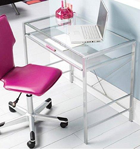 Mainstay Glass Top Laptop Computer Desk PC Workstation Table Modern Durable Design