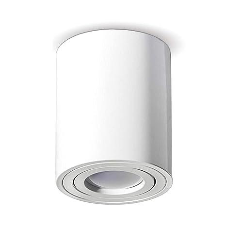 Aufbauleuchte Deckenleuchte Aufputz LED MILANO -LANG-GU10 230V[rund,weiss,schwenkbar] Deckenleuchte Strahler Deckenlampe Würf