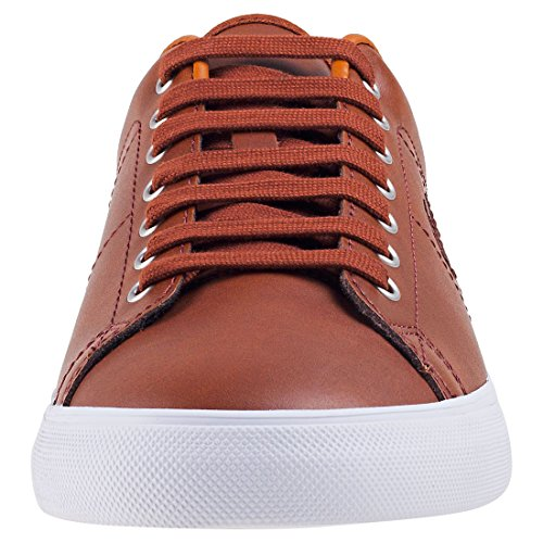 Men's Perry White Tan Underspin Fred Tan Sneaker Leather FTnBWZW