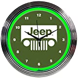Neonetics 8JEEPG Jeep green Neon Clock