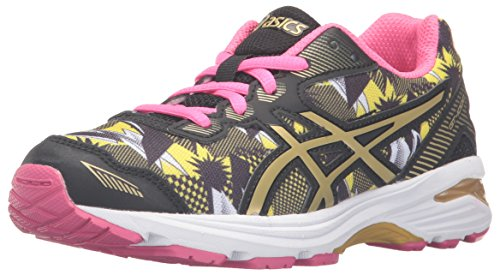 Price comparison product image ASICS GT-1000 5 GS GR Running Shoe (Little Kid/Big Kid), White/Gold/Gold Ribbon, 2 M US Little Kid
