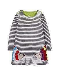Toddler Baby Girls Cartoon Animal Casual Playwear Dress Frock Princess Dresses