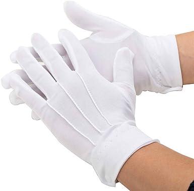 Ogquaton Guantes de algodón blancos Guantes de caballero Guantes de vestir formales Guantes de ceremonia Guantes de uniforme unisex: Amazon.es: Ropa y accesorios