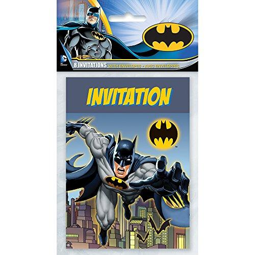 [Batman Party Invitations, 8ct] (Childrens Costume Party Invitations)