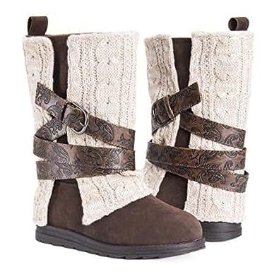 Muk Luks Boots Fashion Women's Nikki, Oatmeal, 6 M US, 6