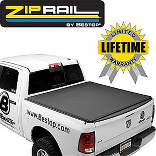 - Bestop 18100-01 ZipRail Tonneau Cover for 2000-2006 Toyota Tundra & 1993-1998 T-100 Regular Cab, 8.0' bed