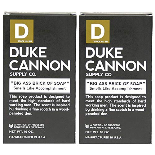 Duke Cannon Big Brick of Soap for Men - Smells Like Accomplishment, 10 oz (Pack of 2)