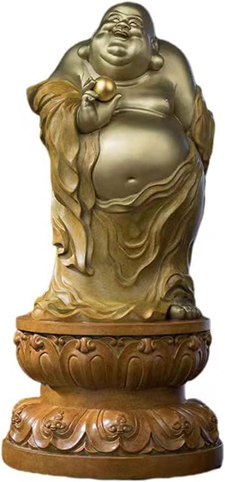 Xuejuanshop Buddha Statue Buddha Statue Brass Buddha Statue Craft Ornament Home Decor Meaning Peace and Harmony Buddha Ornament for Household Office Desktop Decoration Zen Meditation Decor
