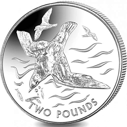 (BLUE PETREL - 2018 British Antarctic Territory £2 Uncirculated Cupro Nickel Coin - Limited Mintage of Only 10,000 pieces - BEAUTIFUL SEA BIRD COIN)