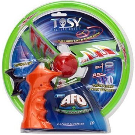 Tech Team Tosy AFO - Alien's Flying Object - Flash Flyer Magic Disc, Flies Back Like a Boomerang, Lights Up, Countless Play Styles, Color may Vary (Red, Blue, Green) (Flyer Disks)