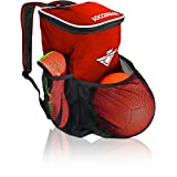 Soccer Backpack with Ball Holder Compartment - for Kids Youth Boys & Girls | Fits All Soccer Equipment & Gym Gear