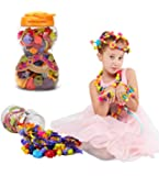 Kemuse Kids Pop beads Set- Creative DIY Jewelry Kit for Girls Necklace and Bracelet Art Crafts Gifts Toys - 85 Pieces