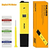 DILISS Digital PH Meter  PH Tester  Mini Water Quality Tester for Household Drinking Water Hydroponics Aquariums Swimming Pools 0.1PH Resolution - Extra PH Calibration Solution Mixture