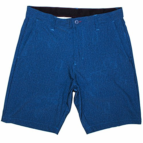 Burnside Mens Dual Function Performance Short Hybrid Short Dark Denim-34