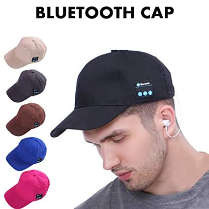 15db538a7c2 BALANSOHO Bluetooth Baseball Cap Wireless Smart Musical Hat Washable with Stereo  Speakers   Mic Fit for Outdoor Sports