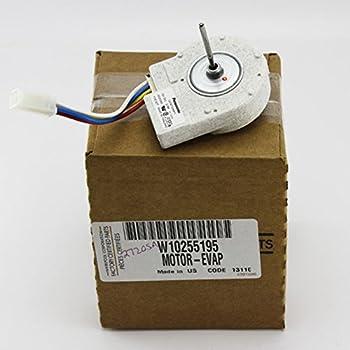 Whirlpool w10255195 evaporator fan motor home for Ge refrigerator evaporator fan motor problems
