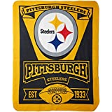 NFL Pittsburgh Steelers Marque Printed Fleece Throw, Black, 50 x 60""