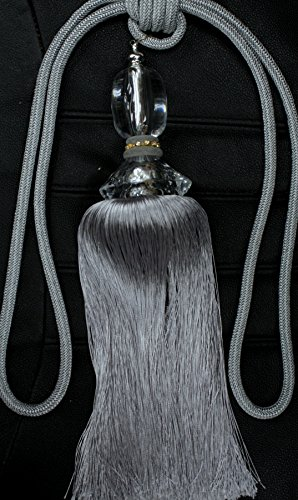 Decorative Designer's Extra Heavy Long Tie-back Backscurtains/drape Tassels Silver) (Extra Long Designer Ties)