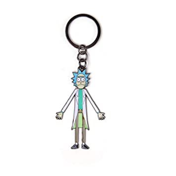 Rick and Morty Morty with Moveable Head Metal Keychain ...