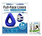 RespLabs Full Face CPAP Mask Liners - [3 Pack] Reusable, Universal, and Super Comfortable