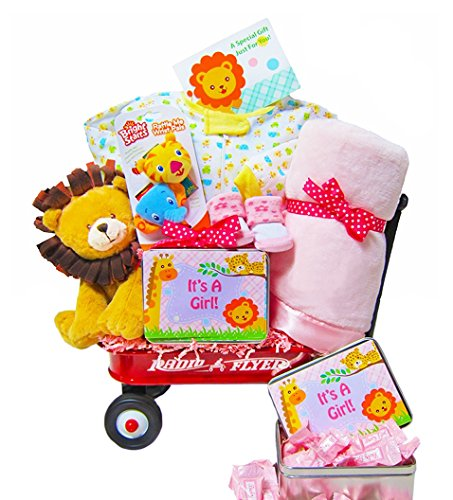 New Arrival in the Jungle | Baby Girl Gift Wagon