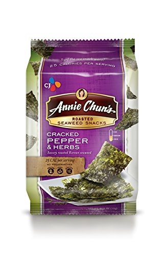 Annie Chun's Roasted Seaweed Snacks, Cracked Pepper and H...