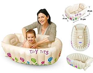 tiny tots inflatable baby bath tub portable travel bathtub sensor phthalate f. Black Bedroom Furniture Sets. Home Design Ideas