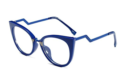 933bc0773f5 Allt Cat Eye Optical Eyewear Non-prescription Mod Eyeglasses Trendy Zigzag  Temple Clear Lens Frame