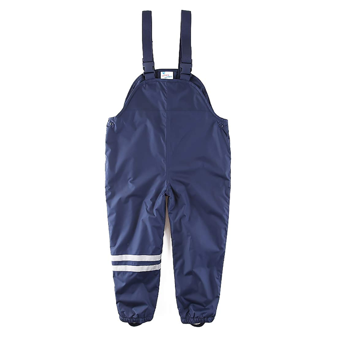 umkaumka Boy Trail Rain Pants Fleece Lined Overalls Bibs Snow Pants 4T Dark Blue