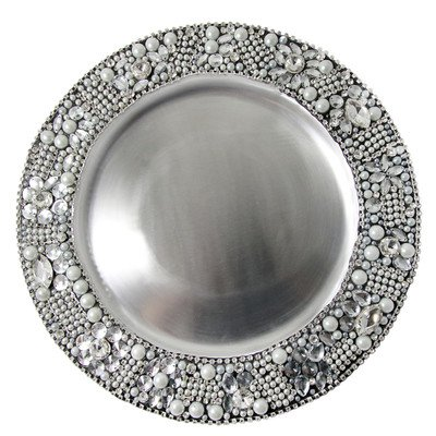Vanderpump Beverly Hills Diamante Charger, Grey