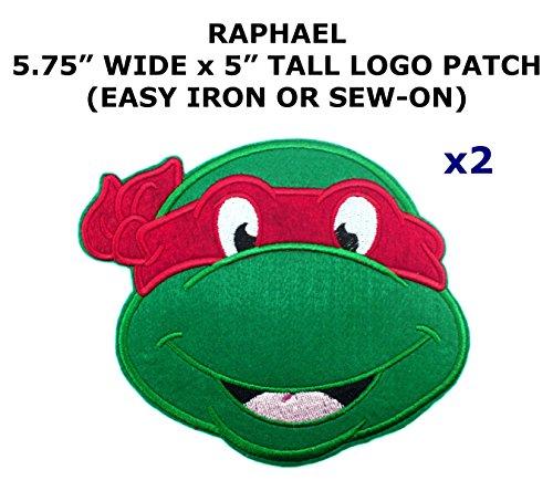 2 PCS Raphael Teenage Mutant Ninja Turtles Theme DIY Iron / Sew-on Decorative Applique - Mutant Teenage Diy Turtles Ninja Costume