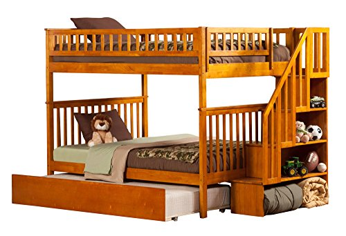 Desk Atlantic Maple (Atlantic Furniture Woodland Staircase Bunk Bed with Urban Trundle, Caramel Latte, Full Over Full)