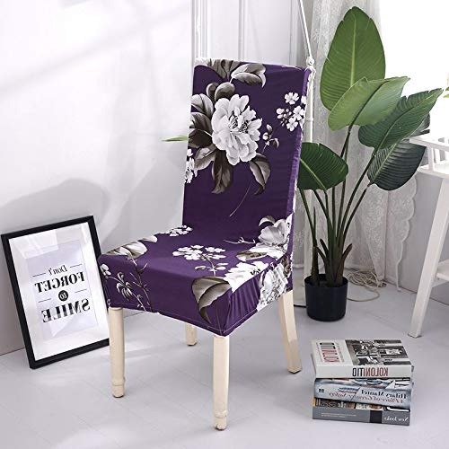 Amazon.com: 1/2/4/6 Pieces Floral Printing Dining Chair Covers ...