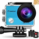 #5: Crosstour Action Camera 4K WIFI Underwater Cam 16MP Ultra HD Waterproof Sports Camera with Remote Control 170°Wide-angle 2