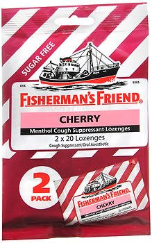 Fisherman's Friend Menthol Cough Suppressant Lozenges Cherry Sugar Free 2-Pack - 40 ct, Pack of 5 ()